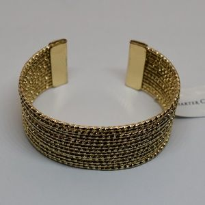 Charter Club Gold Twist Wire Cuff Bracelet
